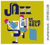 vintage jazz quote poster   Shutterstock .eps vector #359381138