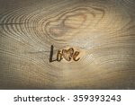 Love. Romantic Card With...