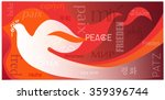 dove of peace flying through... | Shutterstock .eps vector #359396744