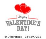 vector happy valentine s day... | Shutterstock .eps vector #359397233