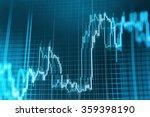 stock market graph and bar... | Shutterstock . vector #359398190