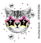 Funny Cat Graphic For T Shirt