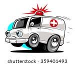 Cartoon Ambulance. Vector...