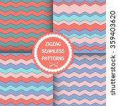 seamless colorful zigzag ... | Shutterstock .eps vector #359403620