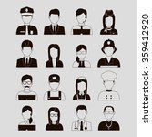 professions vector flat icons.... | Shutterstock .eps vector #359412920