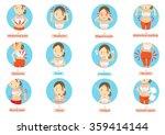menstruation pain or stomach...   Shutterstock .eps vector #359414144