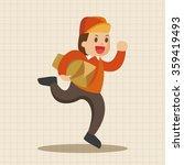 deliveryman theme elements... | Shutterstock .eps vector #359419493