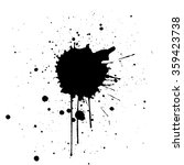 black ink splatter background....   Shutterstock .eps vector #359423738