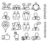 business and people icons.... | Shutterstock .eps vector #359429318