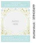 baby photo card template design | Shutterstock .eps vector #359435699