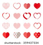 valentines day different hearts ... | Shutterstock .eps vector #359437334