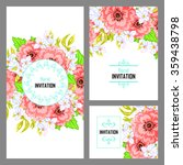 invitation with floral... | Shutterstock . vector #359438798