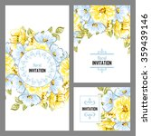 romantic invitation. wedding ...   Shutterstock . vector #359439146