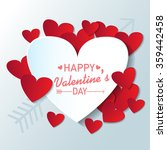 happy valentine's day paper cut ... | Shutterstock .eps vector #359442458