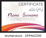 certificate template diploma...   Shutterstock .eps vector #359462330