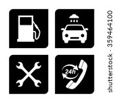 gas  station service icons set | Shutterstock .eps vector #359464100