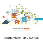 internet and mobile marketing... | Shutterstock .eps vector #359466758