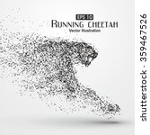 particle cheetah  vector... | Shutterstock .eps vector #359467526