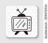 doodle tv | Shutterstock . vector #359470514