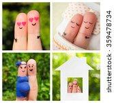collage finger art of happy...   Shutterstock . vector #359478734