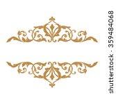 premium gold vintage baroque... | Shutterstock .eps vector #359484068