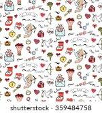 seamless background hand drawn... | Shutterstock .eps vector #359484758