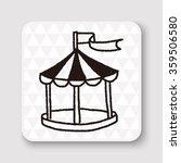 doodle tent | Shutterstock .eps vector #359506580