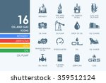 set of oil and gas icons | Shutterstock .eps vector #359512124