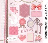 girly design elements | Shutterstock .eps vector #359515574