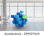 Cube In Modern Office