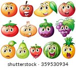 fresh fruits and vegetables... | Shutterstock .eps vector #359530934