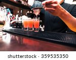 barman stir alcohol. process of ... | Shutterstock . vector #359535350