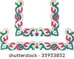 vector ornament in flower style | Shutterstock .eps vector #35953852