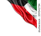 kuwait   flag of silk with... | Shutterstock . vector #359541734