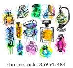 set of perfume bottles.... | Shutterstock . vector #359545484