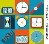 clock icons. set of different... | Shutterstock .eps vector #359546813