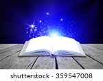 opened magic book on abstract... | Shutterstock . vector #359547008
