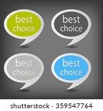 speech bubbles set vector... | Shutterstock .eps vector #359547764