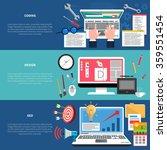 web development horizontal... | Shutterstock .eps vector #359551454