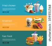 fast food choice options online ... | Shutterstock .eps vector #359551568