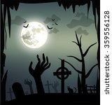 spooky halloween illustration | Shutterstock . vector #359556128
