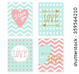 set of cards for your design.... | Shutterstock .eps vector #359564210