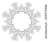 ornamental floral frame. round... | Shutterstock .eps vector #359575406