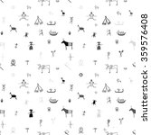 cave primitive art pattern  ... | Shutterstock .eps vector #359576408