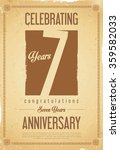anniversary retro background 7... | Shutterstock .eps vector #359582033