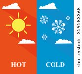 Hot And Cold Sun And Snowflake