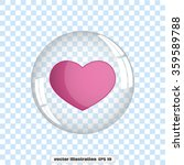 heart bubble icon vector. | Shutterstock .eps vector #359589788