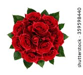 Stock photo red rose flowers bouquet isolated on white 359598440
