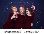 three beautiful elegant women... | Shutterstock . vector #359598464