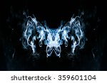smoke on a black background | Shutterstock . vector #359601104